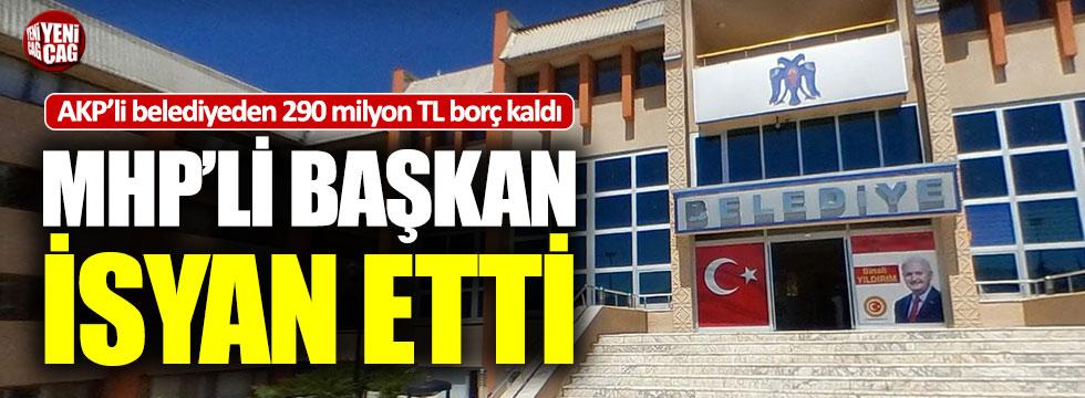 Erzincan Belediyesi'nin AKP'den kalan borcu tepki çekti