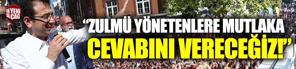 İmamoğlu Zeytinburnu ve Fatih'te vatandaşlara hitap etti