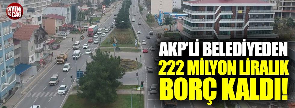 Atakum Belediyesi'nin borcu 222 milyon lira!