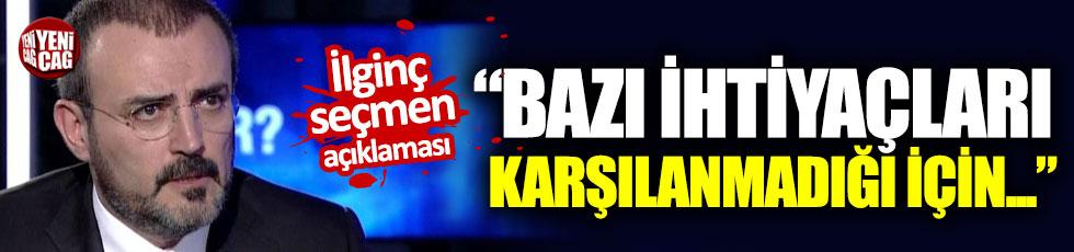 AKP'li Ünal'dan ilginç seçmen açıklaması