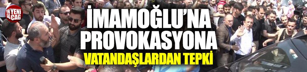 İmamoğlu'na protestoya vatandaştan tepki