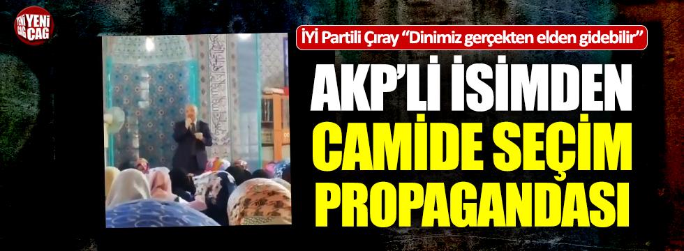 AKP'li Başkan'dan camide seçim propagandası