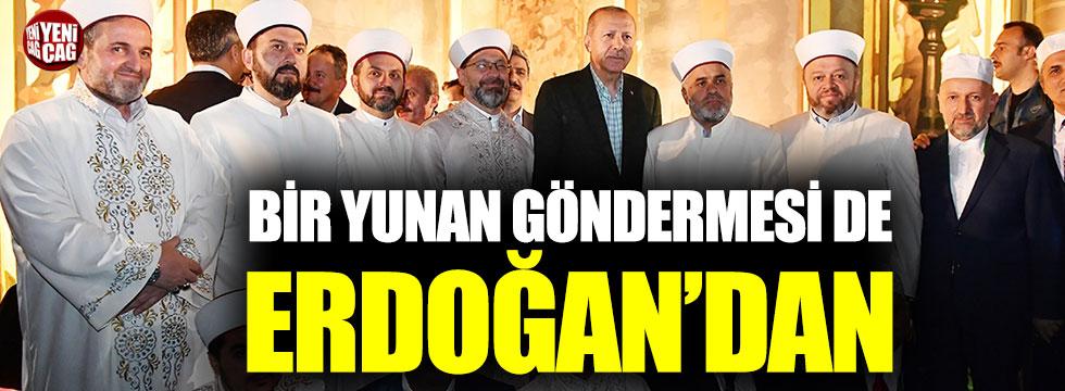 Bir Yunan göndermesi de Erdoğan'dan
