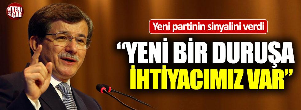 Ahmet Davutoğlu yeni partinin sinyalini verdi