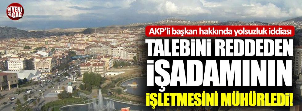 Keçiören'in AKP'li başkanı hakkında yolsuzluk iddiası