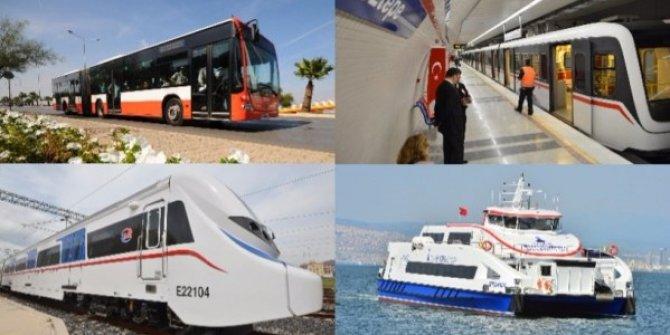 İzmir'de toplu taşıma bayramda ücretsiz