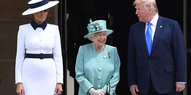 Tump, İngiltere Kraliçesi ile görüştü