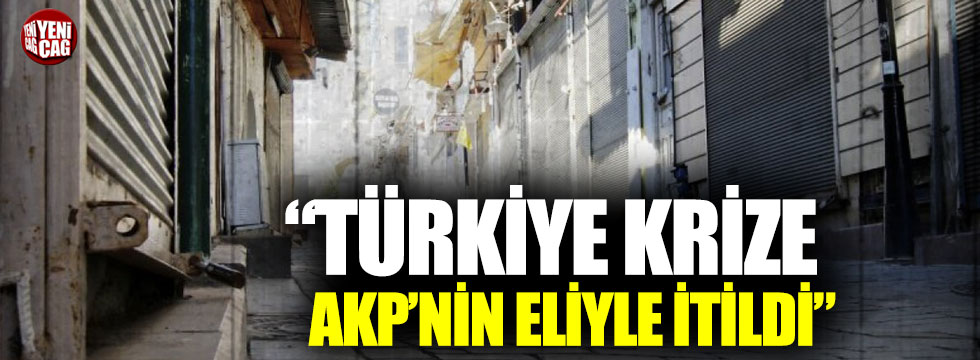 """Aykut Erdoğdu: """"Türkiye krize AKP'nin eliyle itildi"""""""