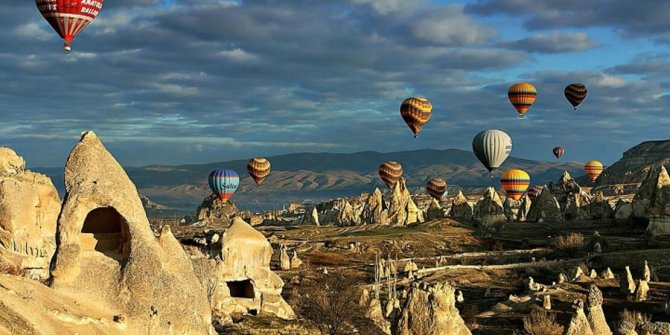 Kapadokya'ya bayramda turist akını