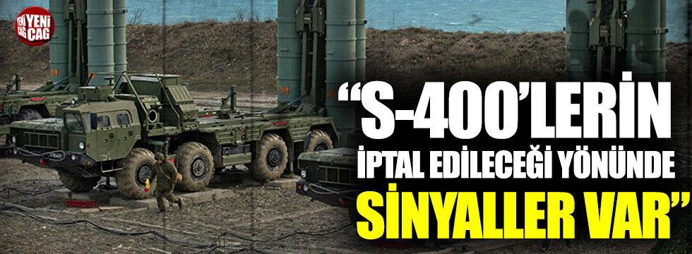 """Emin Çapa: S-400'lerin iptal edileceği yönünde sinyaller var"""""""