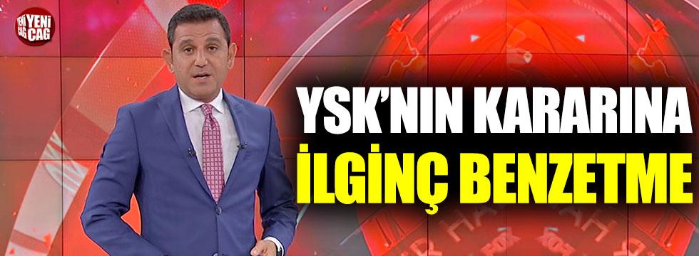 Fatih Portakal'dan YSK'nın kararına ilginç benzetme
