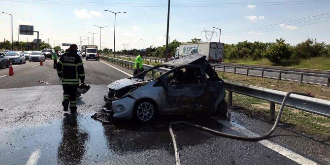 TIR ile otomobil çarpıştı: 5 ölü