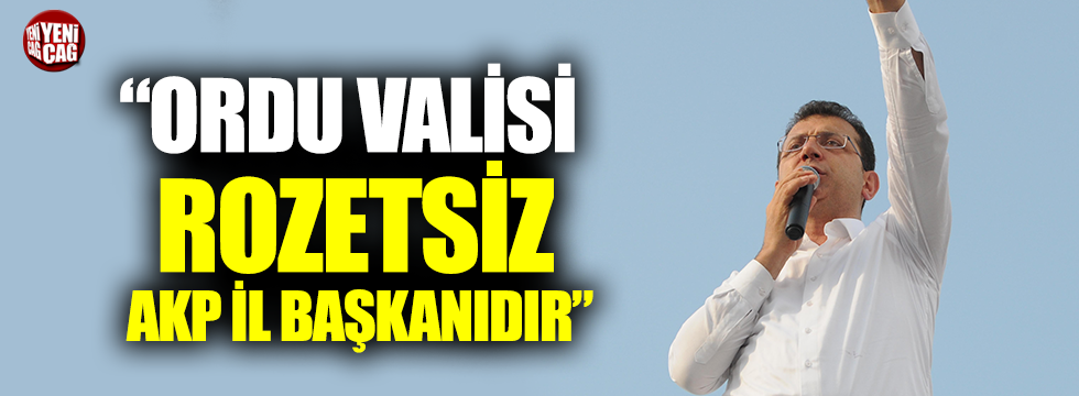 'Ordu Valisi rozetsiz AKP il başkanıdır'