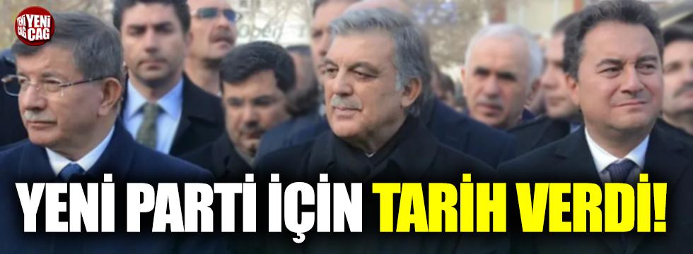 Davutoğlu'nun danışmanı yeni parti için tarih verdi