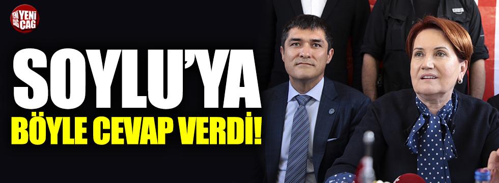 Akşener'den, Süleyman Soylu'ya cevap