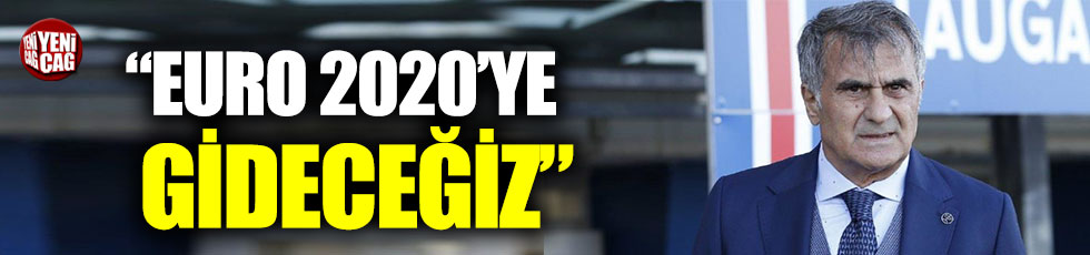 """Şenol Güneş: """"Euro 2020'ye gideceğiz"""""""