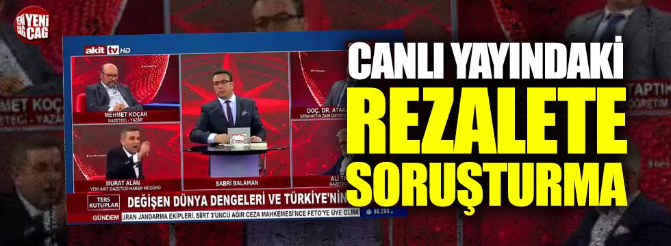 AKİT TV Haber Müdürü Murat Alan'a soruşturma