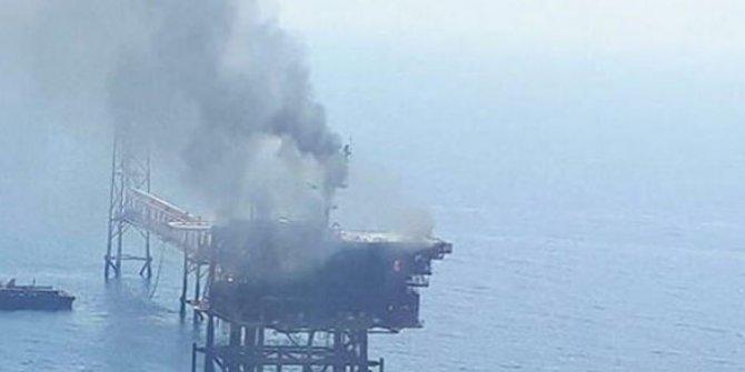 Körfez'de İran'a ait petrol çıkartma tesisinde yangın