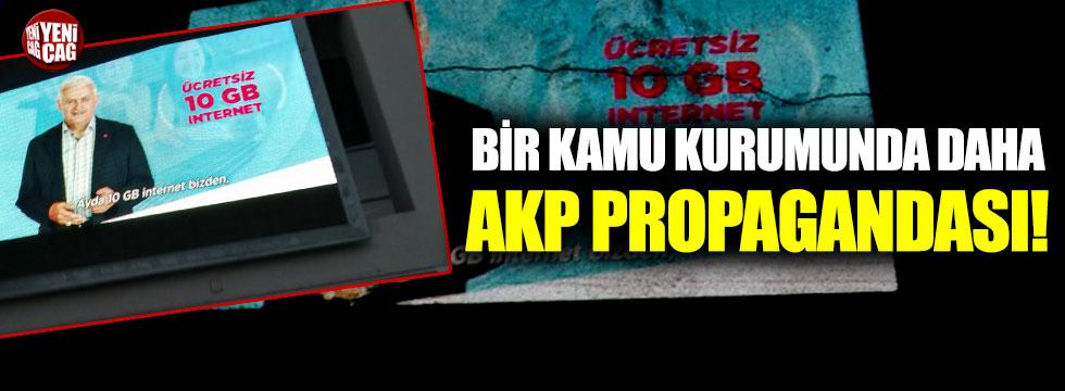 Bir kamu kurumunda daha AKP propagandası!