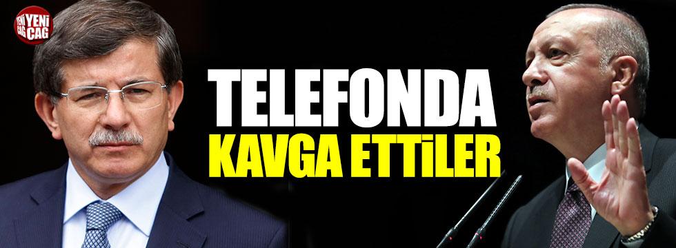 Erdoğan ile Davutoğlu telefonda kavga etti iddiası