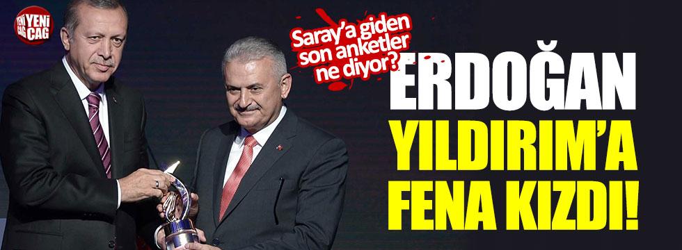 Erdoğan, Yıldırım'a fena kızdı!
