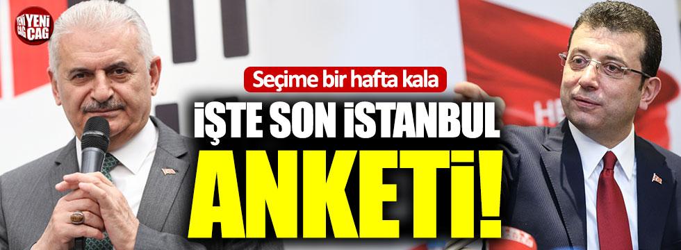 İşte son İstanbul anketi!