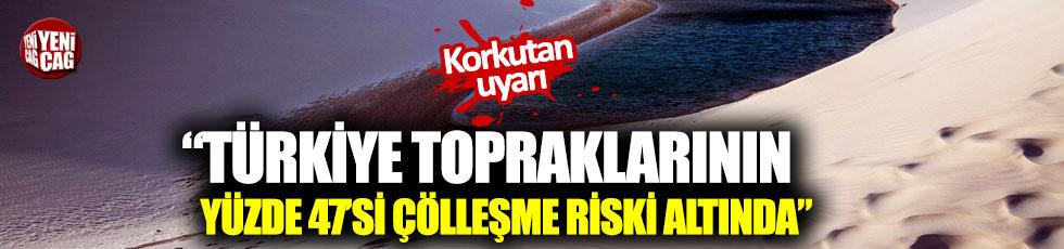 """TEMA'dan uyarı: """"Türkiye topraklarının yüzde 47'si çölleşme riski altında"""""""