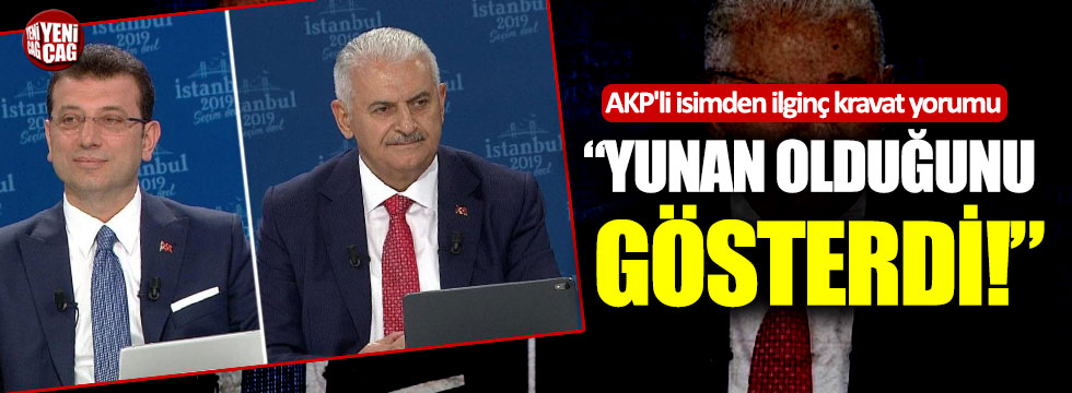 """AKP'li isimden ilginç kravat yorumu: """"Yunan olduğunu gösterdi!"""""""