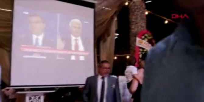 CHP Foça İlçe Başkanı, düğününde adayların ortak yayınını izletti