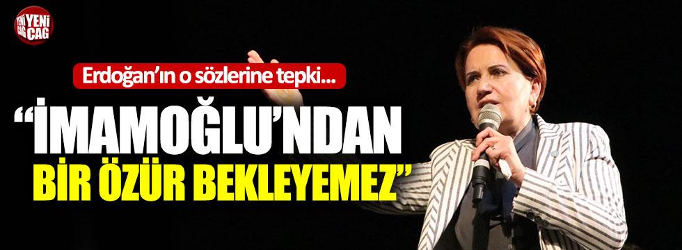 Akşener'den Erdoğan'a özür tepkisi