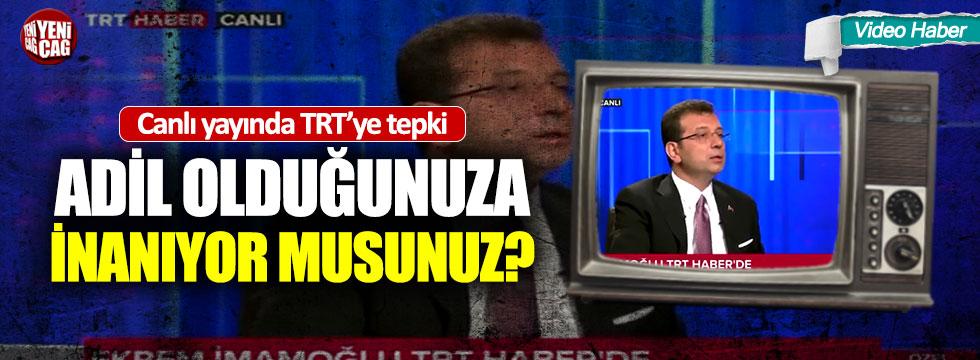 """İmamoğlu'ndan TRT'ye tepki: """"Burası 82 milyonun"""""""