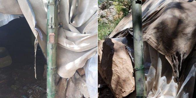 PKK sığınağında füze ele geçirildi