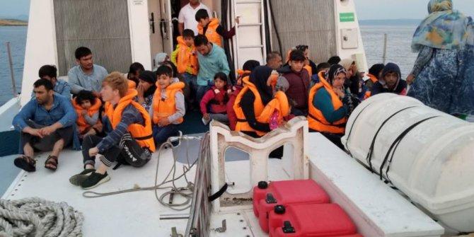 Ayvalık'ta 46 kaçak göçmen yakalandı