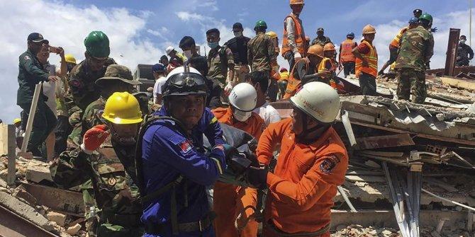 Kamboçya'da 7 katlı bina çöktü: 18 ölü