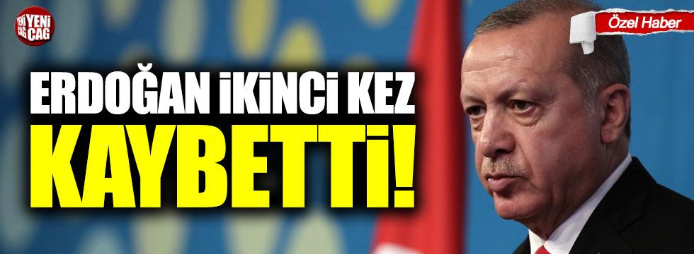 Erdoğan ikinci kez kaybetti!