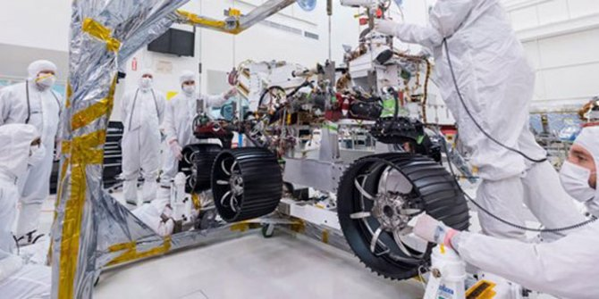 NASA'nın keşif robotuna yeni tekerlek