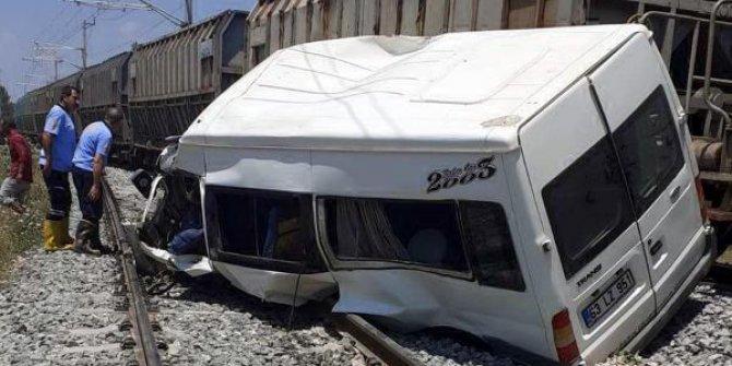 Mersin'de tren kazası