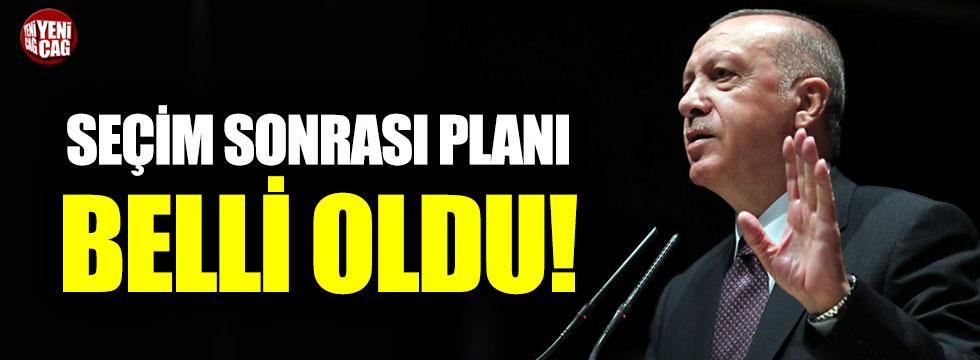 Erdoğan'ın seçim sonrası planı belli oldu