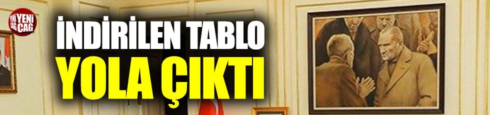 İndirilen Atatürk tablosu yola çıktı