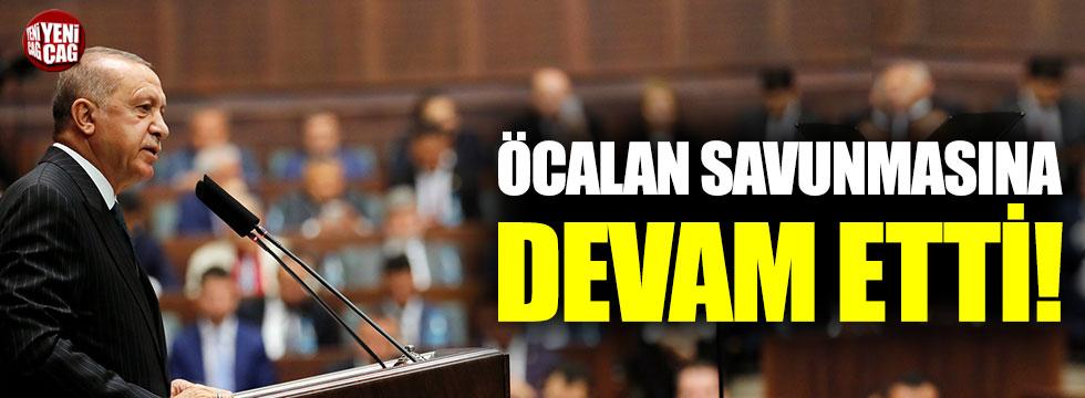 Erdoğan'ın Öcalan savunması sürüyor