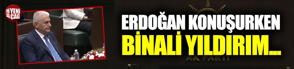 AKP Grup toplantısında Yıldırım'ın hali dikkat çekti