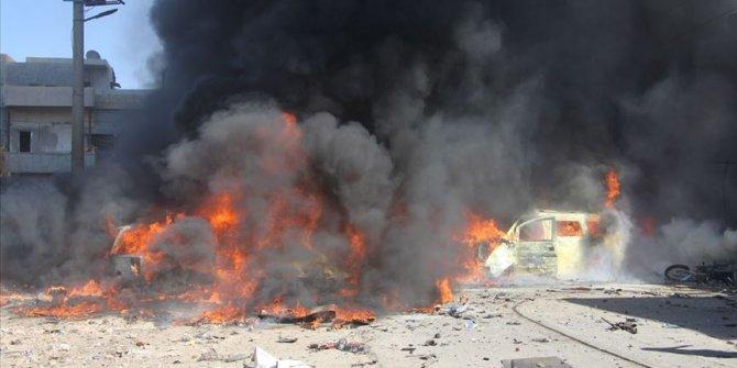 Azez'de art arda iki bombalı saldırı