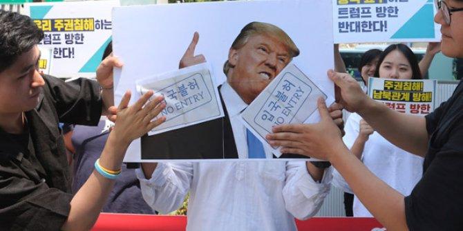Güney Kore'de ABD Büyükelçiliği'ne gazlı saldırı