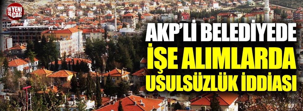 AKP'li Bucak Belediyesi'nde usulsüzlük iddiası