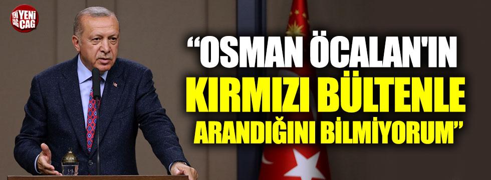 Erdoğan'dan ilginç Osman Öcalan açıklaması