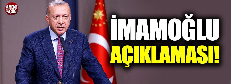 Erdoğan'dan İmamoğlu açıklaması!
