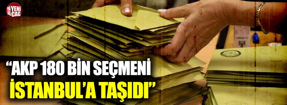 """""""AKP 180 bin seçmeni İstanbul'a taşıdı"""""""