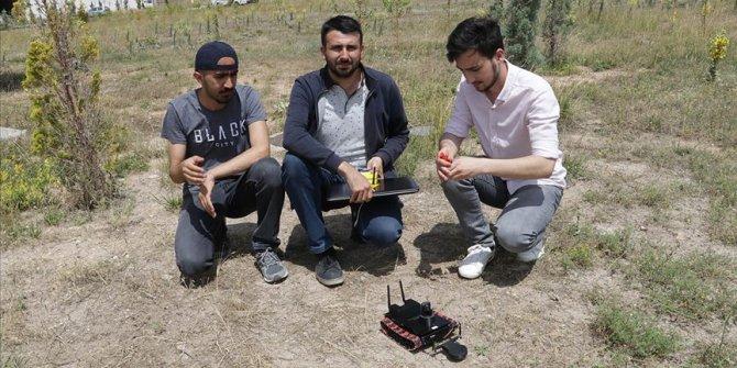Üniversitelilerden 'mayın arama robotu'