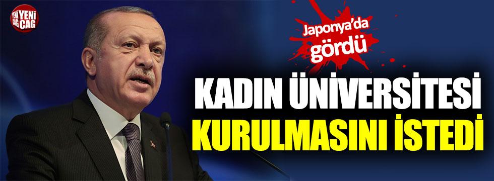 Cumhurbaşkanı Erdoğan'dan kadın üniversitesi çıkışı