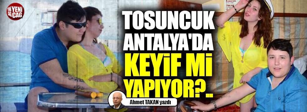 Tosuncuk Antalya'da  keyif mi yapıyor?..